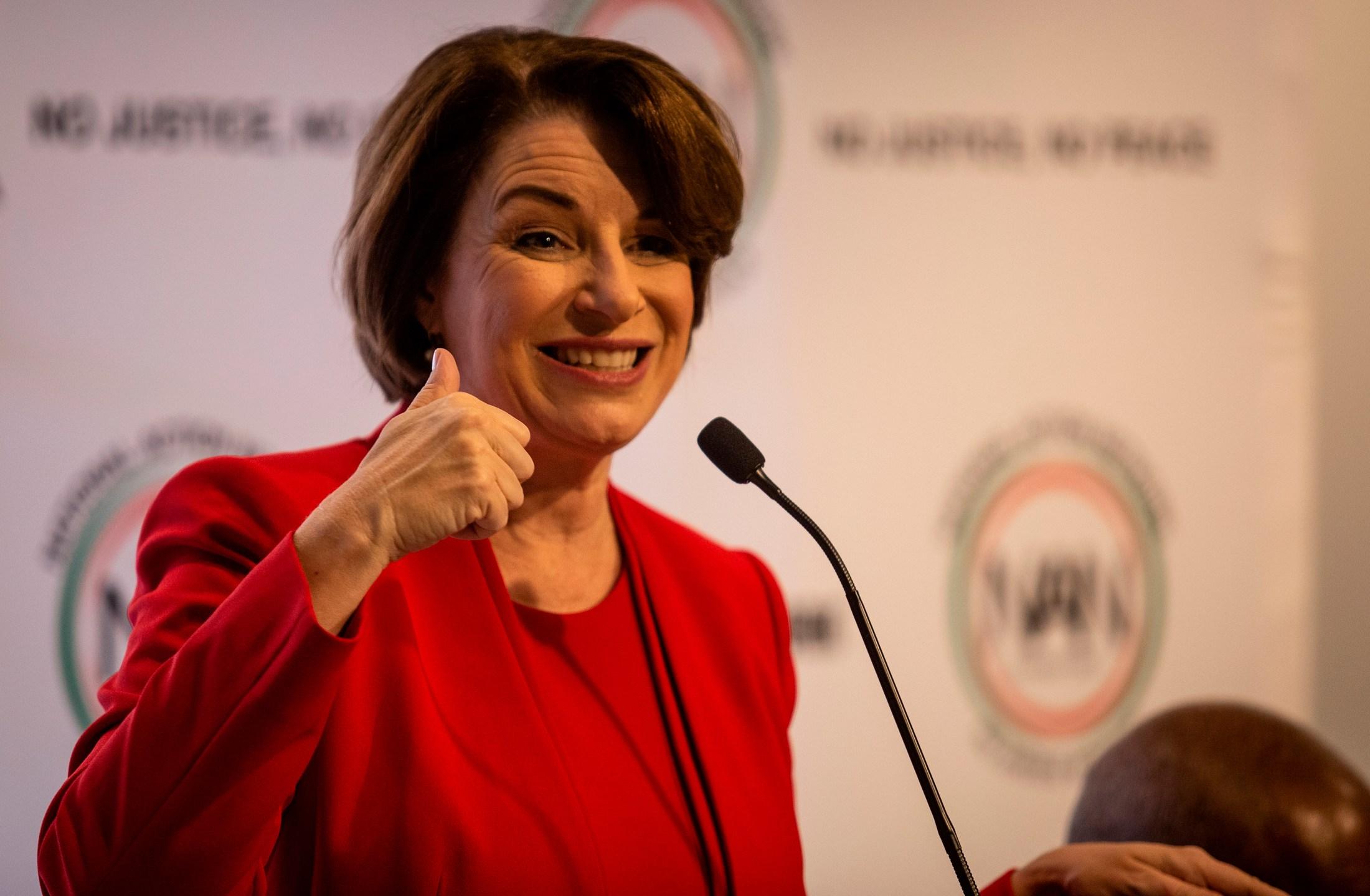 Amy Klobuchar, Klobuchar speaks at Sharpton event in Atlanta