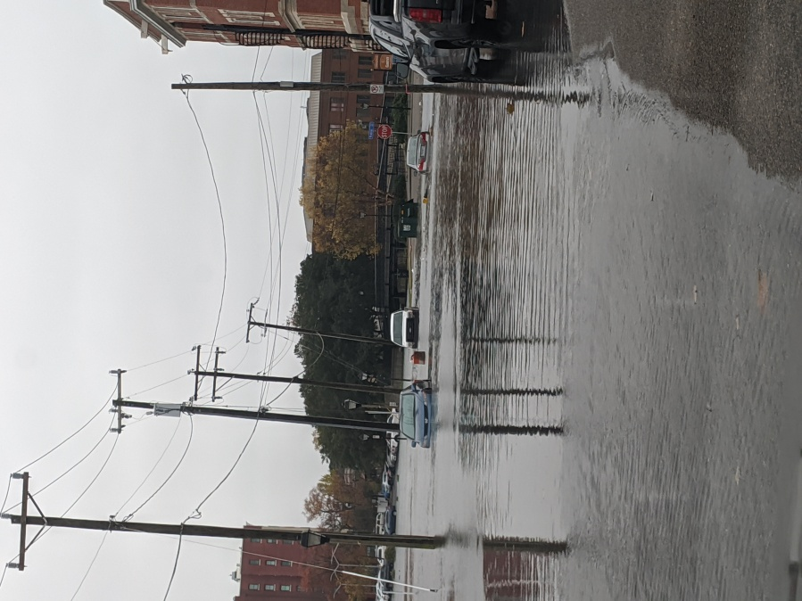 High tide causes flooding in Ghent area of Norfolk