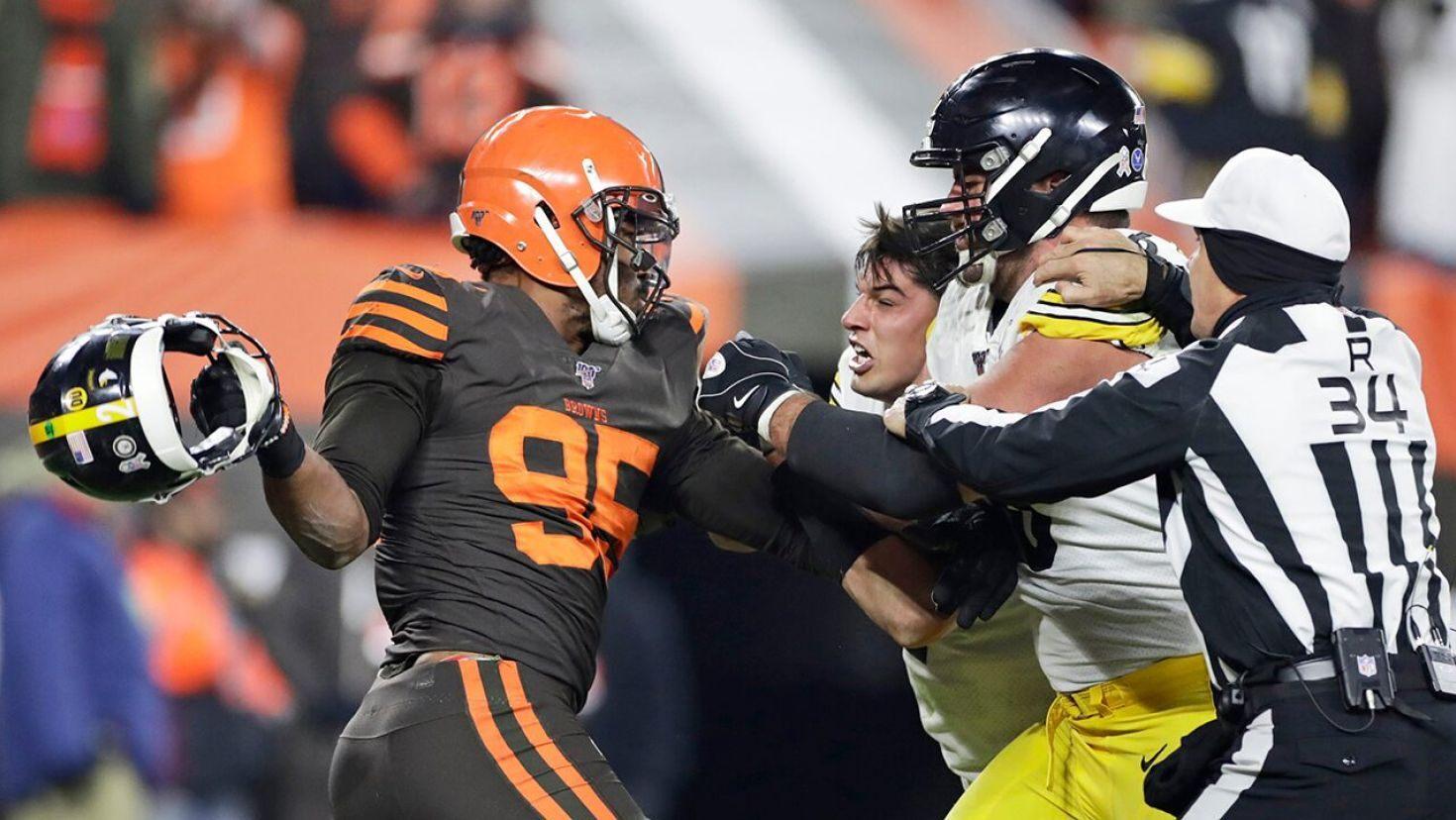 NFL suspends Myles Garrett indefinitely without pay after brawl ...
