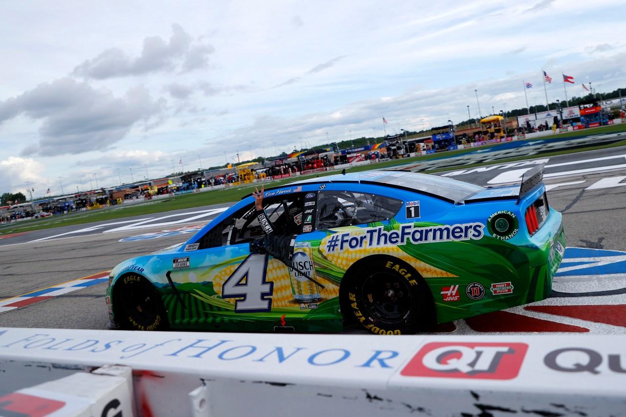 Harvick Wins As NASCAR Recognizes Social Unease Following