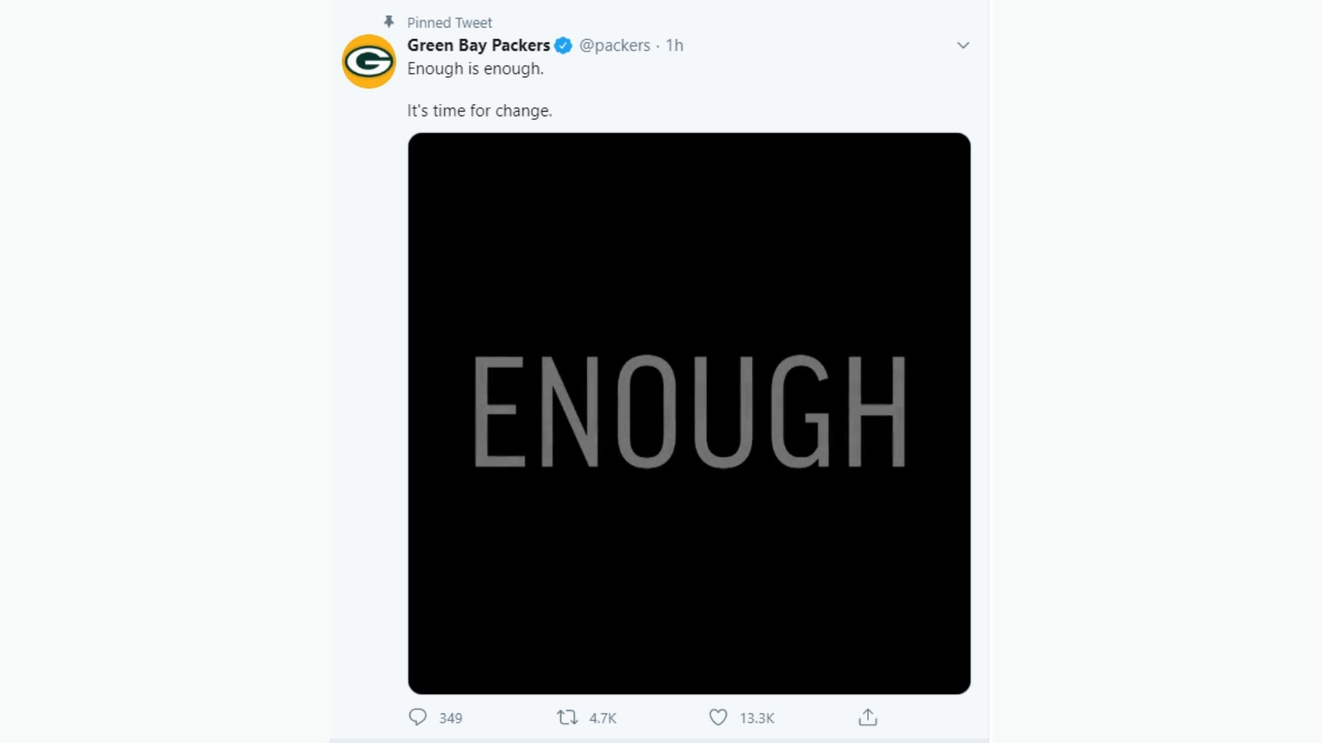Enough Is Enough Packers Release Collaborative Video Amid Unrest Over George Floyd S Death Wavy Com