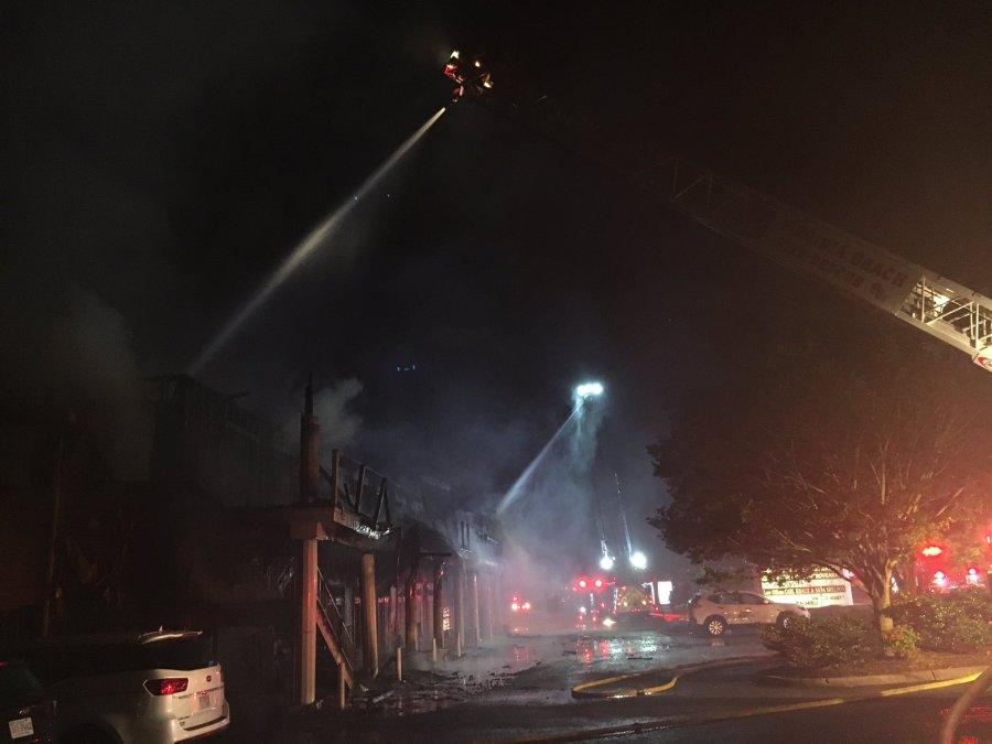 4 Businesses Heavily Damaged In Commercial Structure Fire On General Booth Boulevard Wavy Com