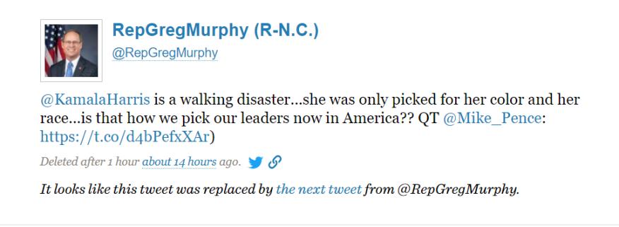 Congressman Greg Murphy Avoids Questions About Deleted Kamala Harris Tweet Wavy Com