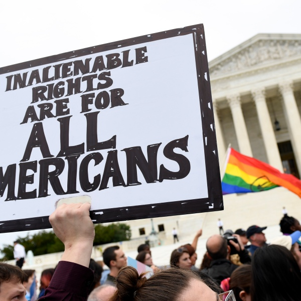 LGBT protesters