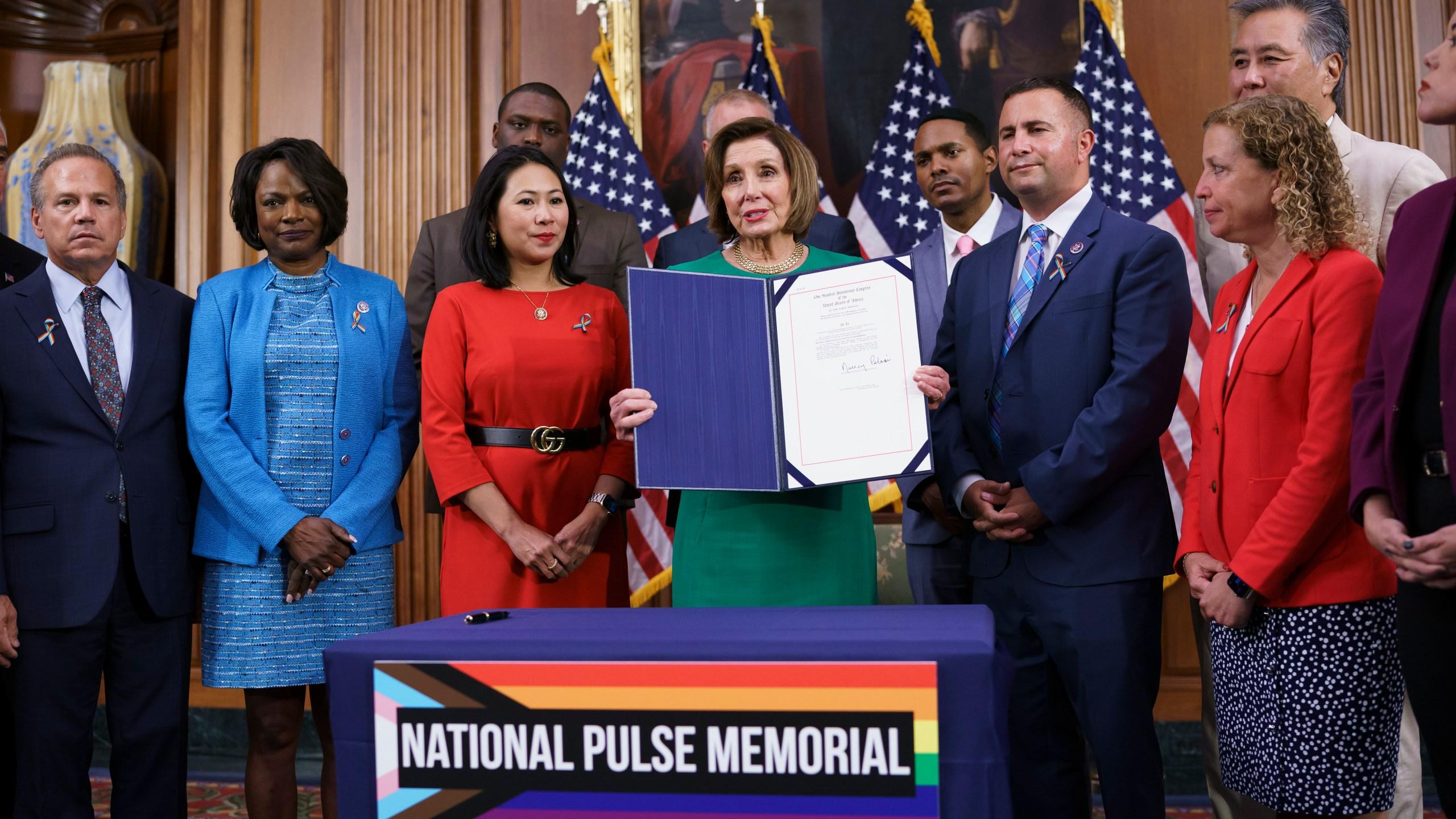 Nancy Pelosi, David Cicilline, Val Demings, Stephanie Murphy, Darren Soto, Debbie Wasserman Schultz