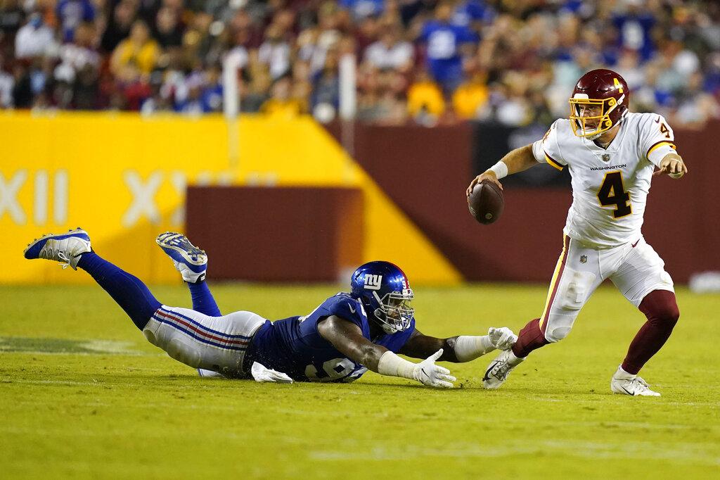 Taylor Heinicke leads Washington to last second win over the Giants    WAVY.com