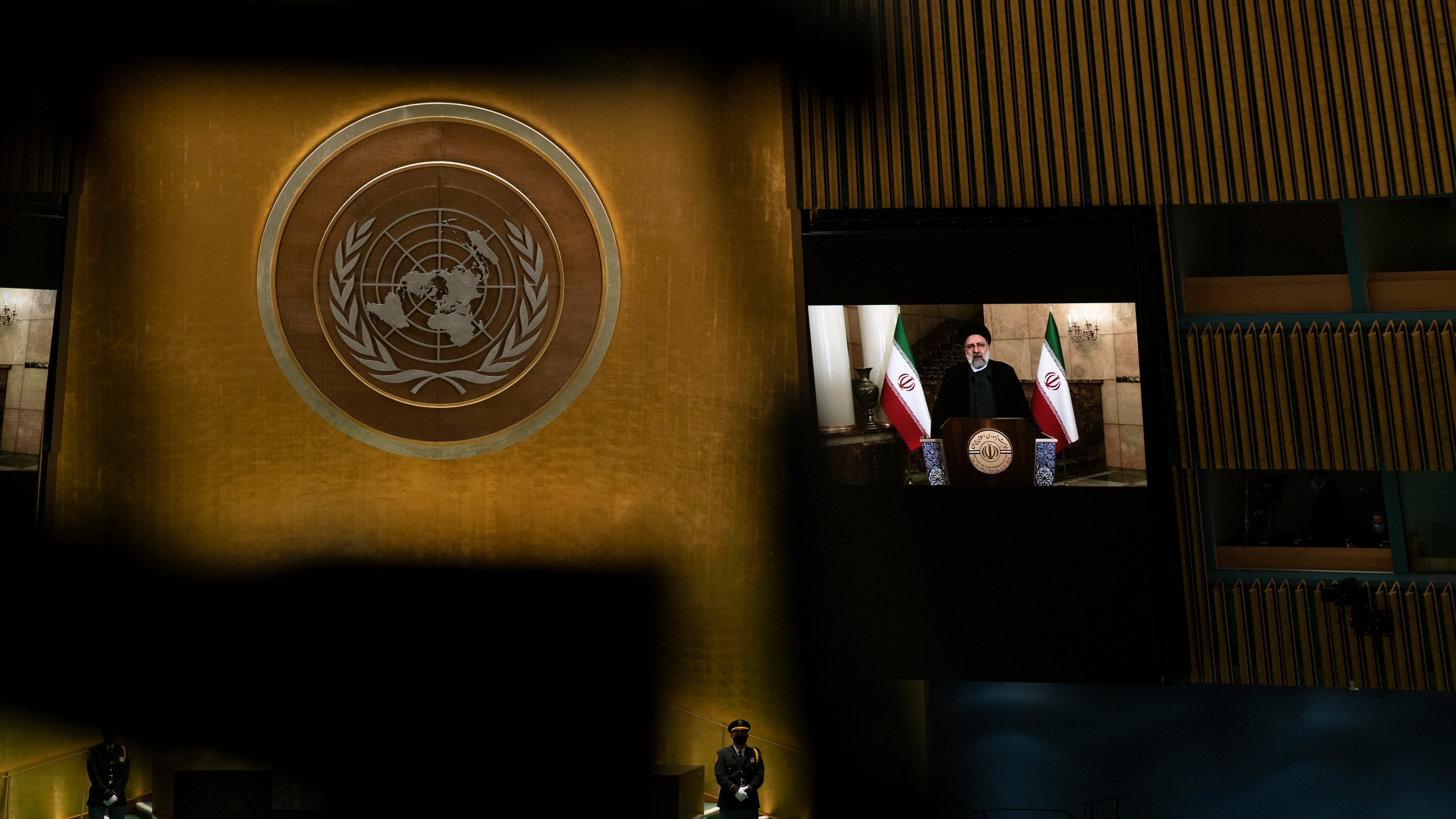 Iran's President's Ebrahim Raisi remotely addresses 76th Session of the U.N. General Assembly in New York City