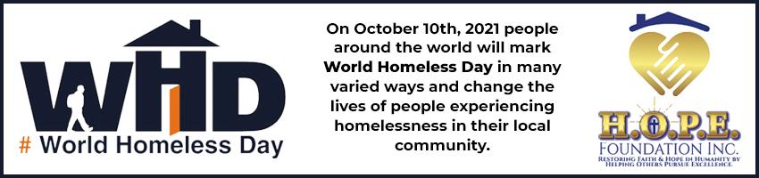 World Homeless Day Banner